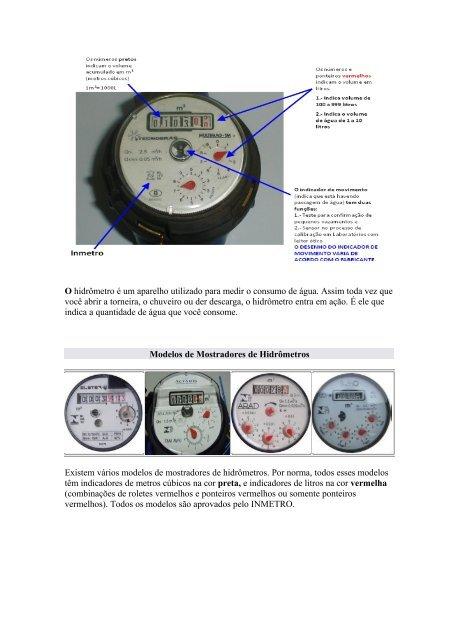 3223dee9ed1 O hidrômetro é um aparelho utilizado para medir o ... - Sanesul
