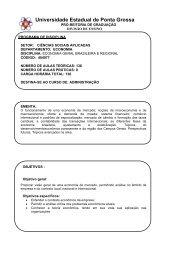 Economia Geral Brasileira e Regional - Universidade Estadual de ...