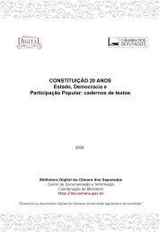 CONSTITUIÇÃO 20 ANOS Estado, Democracia e Participação ...