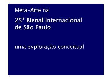 25ª Bienal Internacional 25 Bienal Internacional de São Paulo