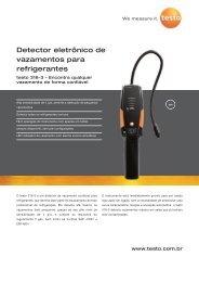 316-3 Detector eletrônico de vazamentos para refrigerantes