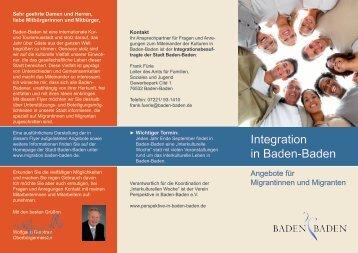 Integration in Baden-Baden