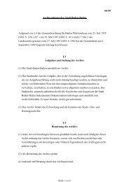 00-09 Archivordnung der Stadt Baden-Baden Aufgrund von § 4 der ...