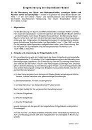 07-05 Entgeltordnung Hallennutzung - Baden-Baden