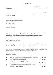 Antrag Berechtigungschein Behindertenfahrdienst - Baden-Baden