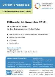 Orientierungstag - Baden-Baden