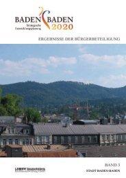 ERGEBNISSE DER BÜRGERBETEILIGUNG BAND 3 - Baden-Baden