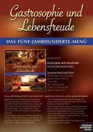 Flyer Gastrosophie - Baden-Baden