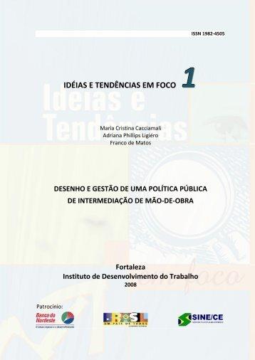 Desenho e gestão de uma política pública de intermediação ... - IDT