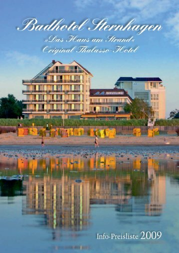 Preisliste 2009 - Badhotel Sternhagen
