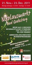 21. Nov.- 23. Dez. 2011 - Bad Godesberg Stadtmarketing e.V.