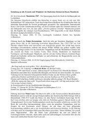 Jahresbericht der Regionalgruppe Mannheim 2005 - Badische Heimat