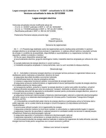 Legea-energiei-electrice-13-din-2007-actualizata - Instalatii Electrice