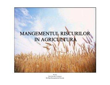 Managementul riscurilor in agricultura - Media XPRIMM