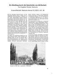 Ein Streifzug durch die Geschichte von Alt-Durlach - Badische Heimat