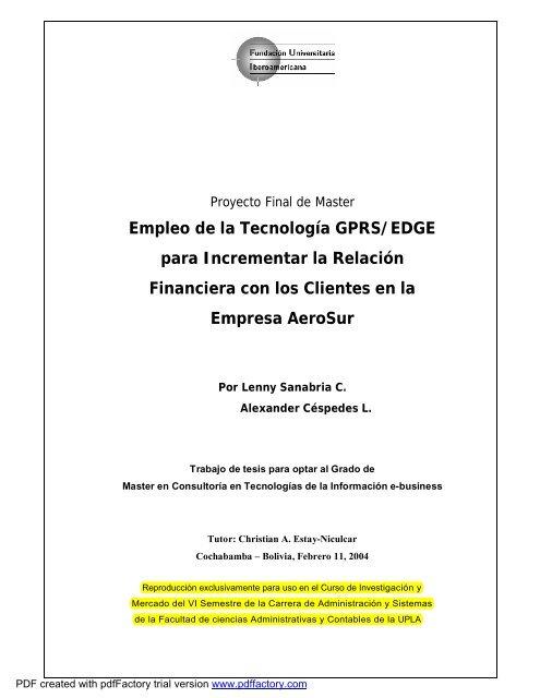 Modelo De Informe Final Investigación Y Mercados