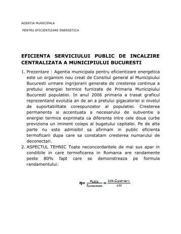 eficienta serviciului public de incalzire centralizata a ... - amereb.ro