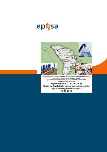 Raport tehnic nr. 12 (TR12-C2) - AT-PSPS Sectorul de apa