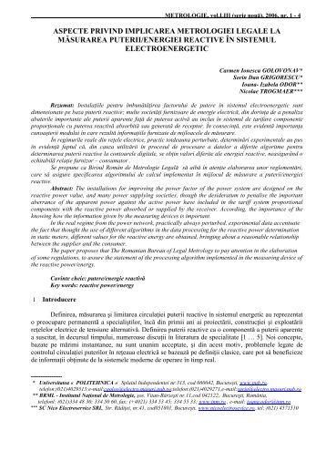 Carmen Ionescu GOLOVANOV, Sorin Dan GRIGORESCU, Nicolae ...
