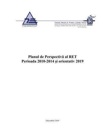 Planul de Perspectivă al RET Perioada 2010-2014 ... - Transelectrica