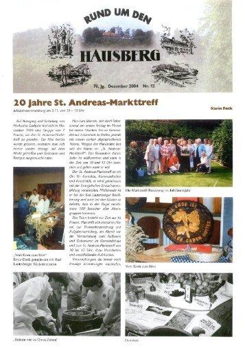 20 Jahre St. Andreas-Markttreff - Bad Lauterberg im Harz