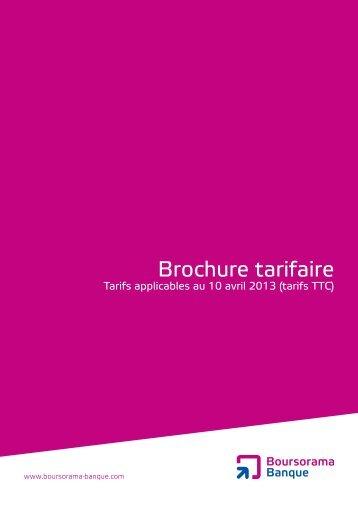 Brochure tarifaire - Boursorama