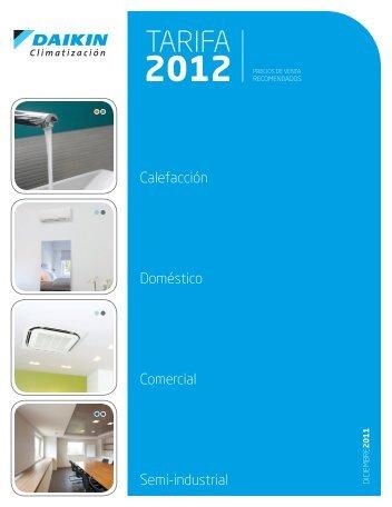 Descargar Tarifa Aire acondicionado DAIKIN 2012 - Directorio de