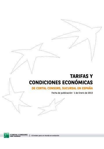 TARIFAS Y CONDICIONES ECONÓMICAS - Cortal Consors