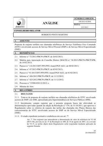 Análise nº 180/2013, do conselheiro relator Roberto Pinto ... - Anatel