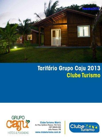 Tarifário Grupo Caju 2013 Clube Turismo