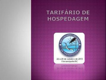 TARIFÁRIO DE HOSPEDAGEM - Fabmar - Viagens e Turismo