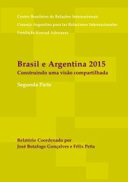 brasil e argentina 2015 - CEBRI