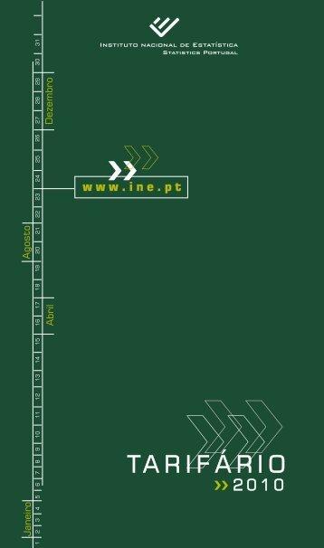 Tarifário 2010 - INE - Portal da Empresa