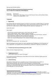Protokoll Seniorenversammlung vom 10.05.2012
