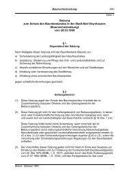 Baumschutzsatzung - Bad Oeynhausen