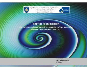 Raporti përmbledhës për procesin e përcaktimit të tarifave - WWRO