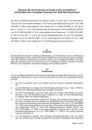 Erhebung von Kostenersatz und Gebühren - Bad Oeynhausen