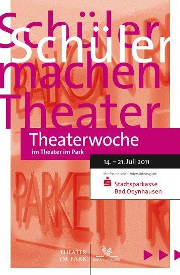 Download Theaterwoche 2011 - Bad Oeynhausen