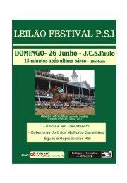 Leilão Festival PSI - Tattersall de Cidade Jardim - Raia Leve