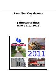 Jahresabschluss 2011 - Bad Oeynhausen