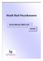 Haushalt 2009 - Bad Oeynhausen