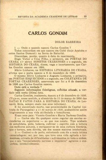 Carlos Gondim - Doior Barreira - Portal da História do Ceará