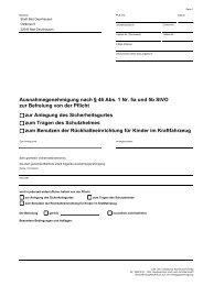 Ausnahmegenehmigung nach § 46 Abs.  1 Nr. 5a ... - Bad Oeynhausen