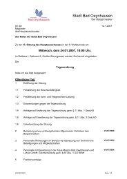 Sitzung 'VIII/2007/002' - Bad Oeynhausen