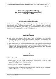 Verwaltungsgebührensatzung der Stadtwerke Bad Oeynhausen (AöR)