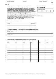 Zusatzblatt für Ausländerinnen und Ausländer ... - Bad Oeynhausen