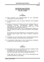 Sportförderungsrichtlinien der Stadt Bad Oeynhausen vom 02.11.2005