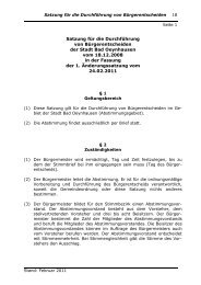 Satzung für die Durchführung von ... - Bad Oeynhausen