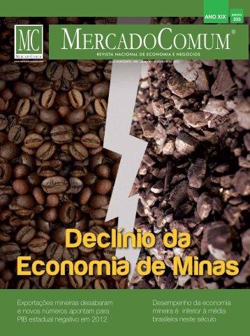 Desempenho da economia mineira é inferior à média brasileira ...