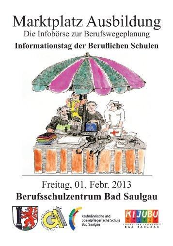 Broschüre Marktplatz Ausbildung 2013 - Stadt Bad Saulgau